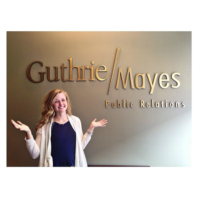 Catherine at one of her summer internships.