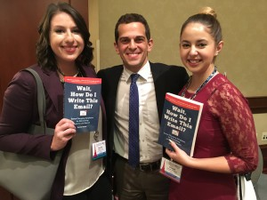 PRSSA members pose with Danny Rubin during his National Conference session. Photo courtesy of Hannah Riffle.