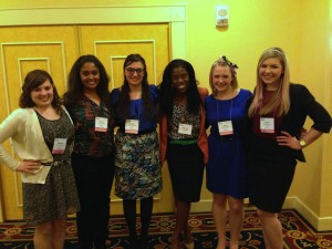 Winners of the Day-of Competition at the PRSSA 2013 National Assembly  celebrate their victory.