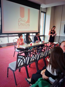 A panel of professionals at The Ohio State University Regional Conference.