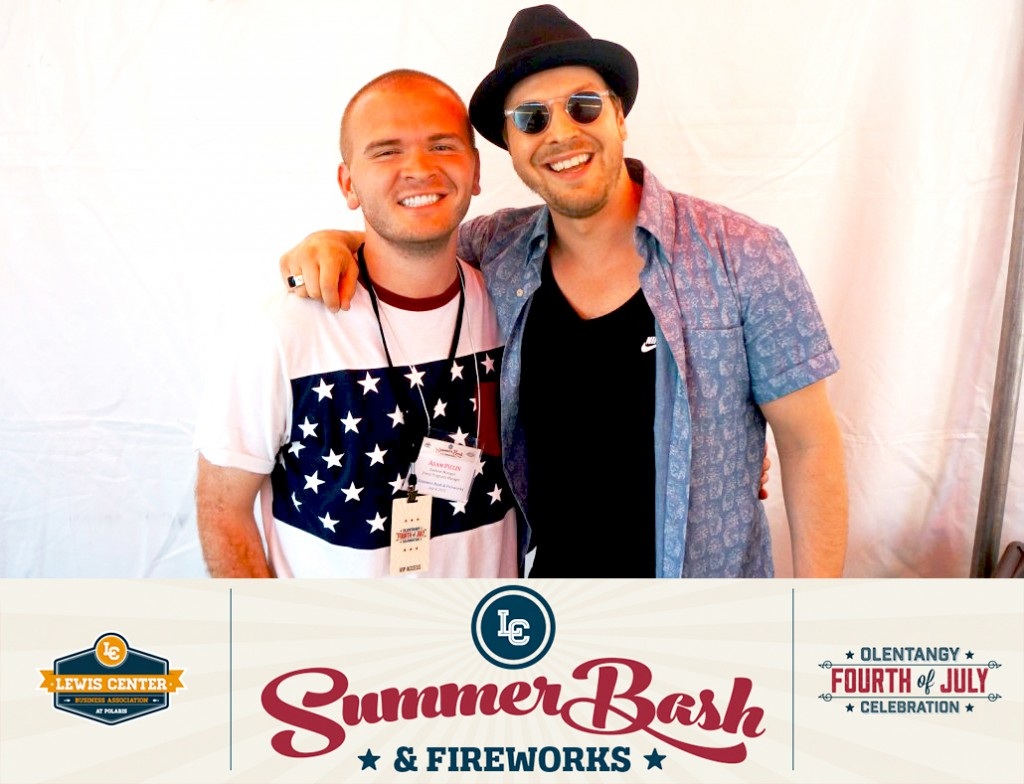 Adam Piccin with Gavin DeGraw.
