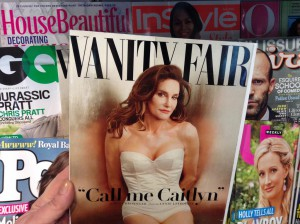 Caitlyn Jenner's first appearance on the cover of Vanity Fair