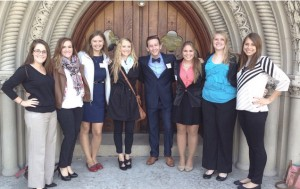 A group of Ohio Northern University PRSSA students after a Central Ohio PRSA luncheon this past year.