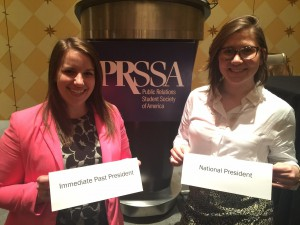 National President Emma Finkbeiner and Immediate Past President Laura Daronatsy at the PRSSA 2016 National Assembly in Austin, Texas.