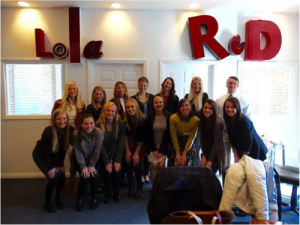 University of Wisconsin–Eau Claire PRSSA Chapter following the agency tour. Photo courtesy of Abby Reimer.