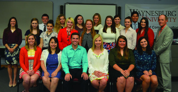 Waynesburg University Chapter members posing for a group photo last spring. Photo courtesy of Natalie Gloady.