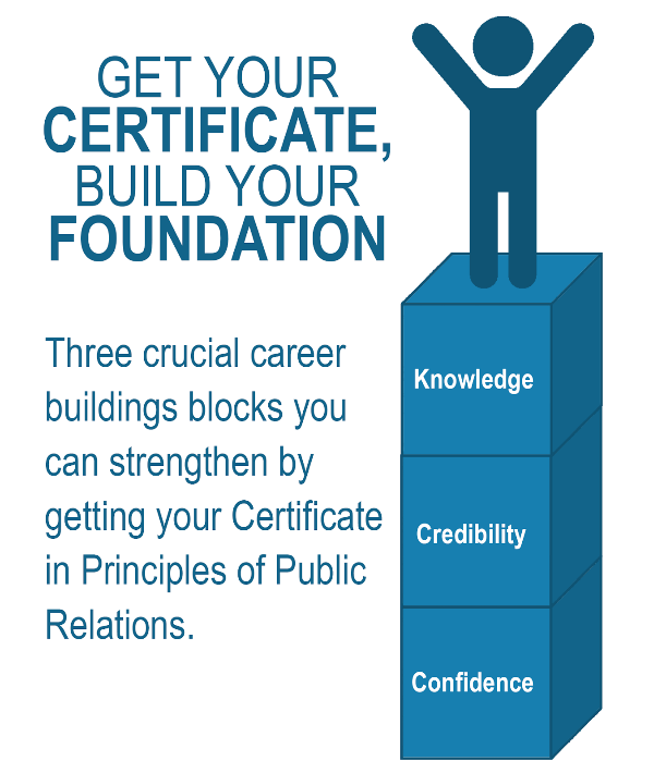 Build Your Foundation: Three Crucial Career Buildings Blocks You Can Strengthen by Getting the Certificate in Principles of Public Relations