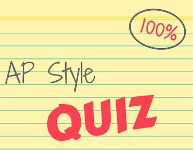 AP Style Quiz 11
