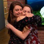 Emily Zekonis hugs Brittany Osteen