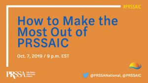 Header reading: How to Make the Most Out of PRSSAIC
