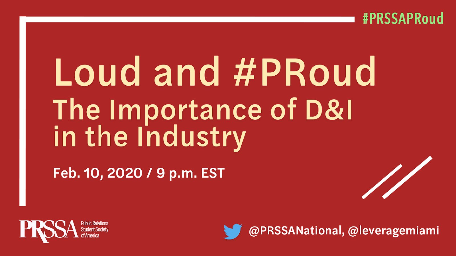 PRSSA PRoud Month — Twitter Chat Recap