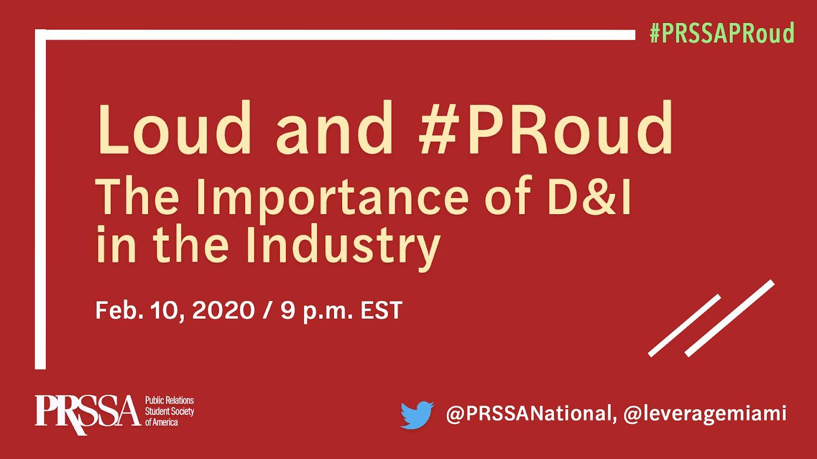 PRSSA PRoud Month — Twitter Chat Recap