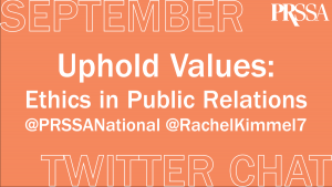 Uphold Values: Ethics in Public Relations Banner Image