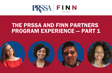 The PRSSA and Finn Partners Program Experience — Part 1
