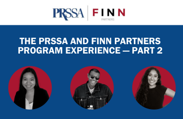 The PRSSA and Finn Partners Program Experience — Part 2