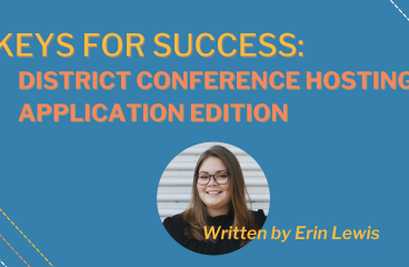 Keys for Success: District Conference Hosting Application Edition