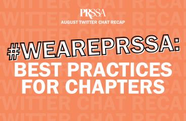 August 2021 Twitter Chat Recap #WeArePRSSA